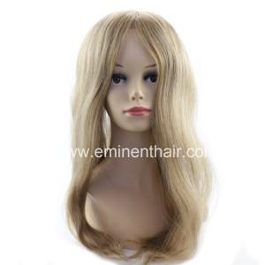 Blond Women Hair Replacement