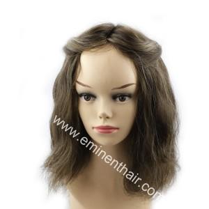 Remy Hair PU Women Toupee