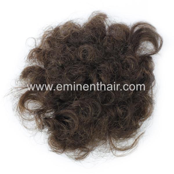 Human Hair Men's Skin Hair Closure