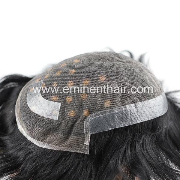 Hair Factory Custom Made Human Hair Replacement Men's Hairpiece