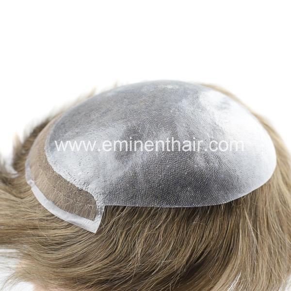 Factory Direct Human Hair Lace Front Men's Toupee