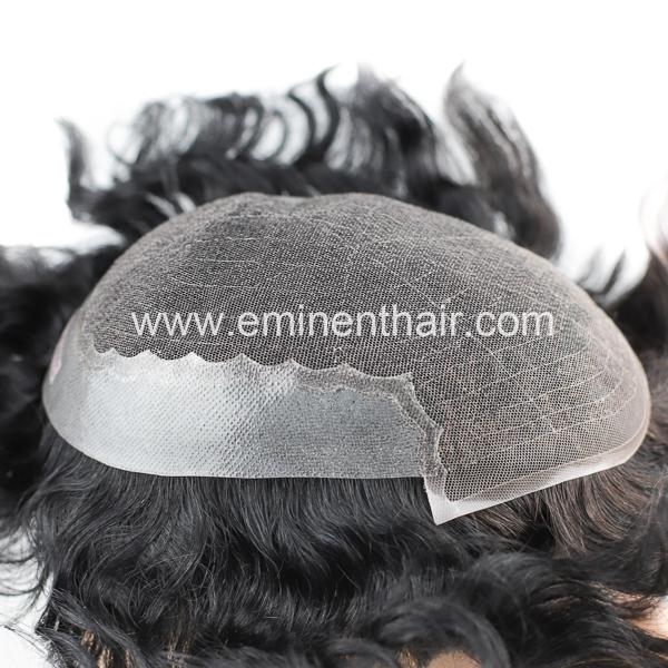 Custom Made Human Hair Men's Toupee