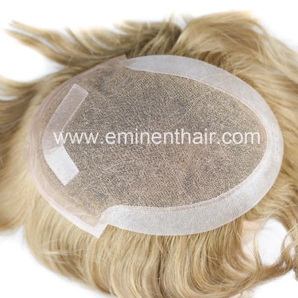 Custom Made Mongolian Human Hair Men's Toupee