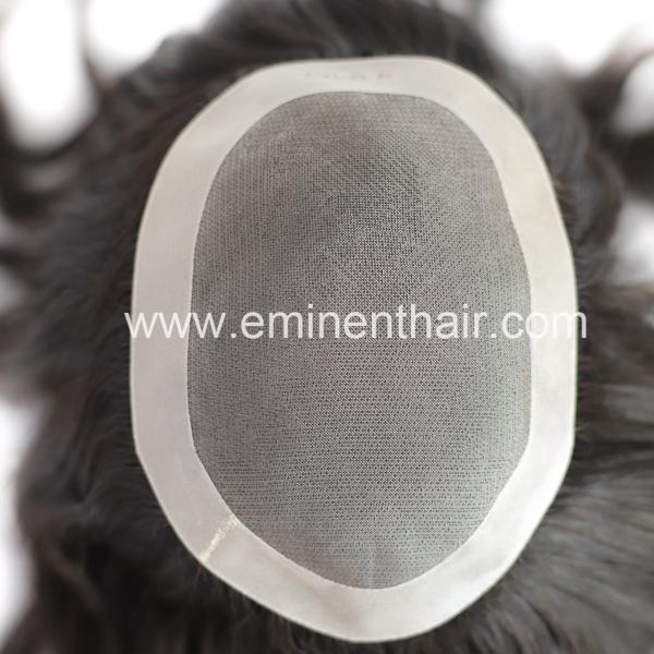 Durable Fine Mono Indian Hair Women Hair Replacement