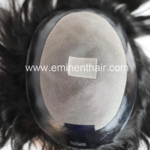 Custom Made Human Hair Mono Men's Hair System