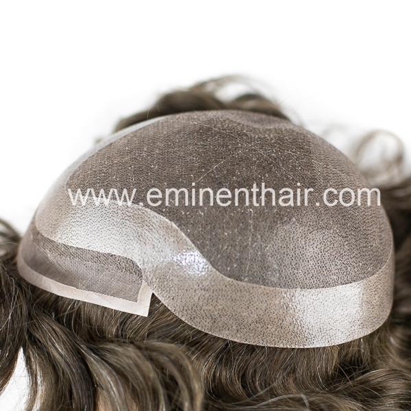 Human Hair Fine Welded Mono Women Wig