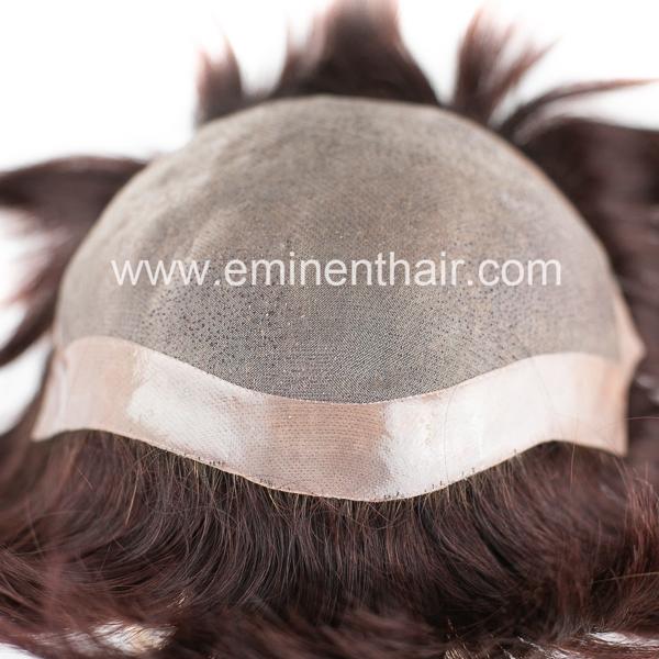 Natural Effect Mongolian Hair Women Hair Replacement System