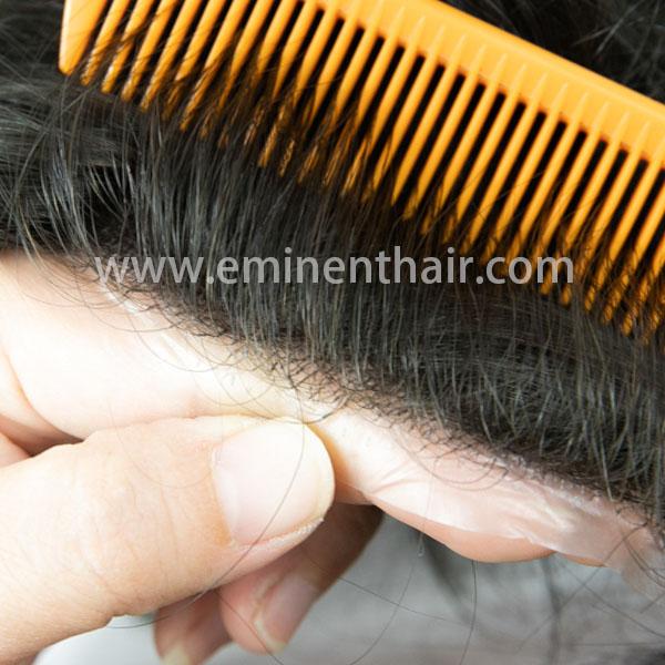 Natural Effect Human Hair Men's Full Skin Toupee