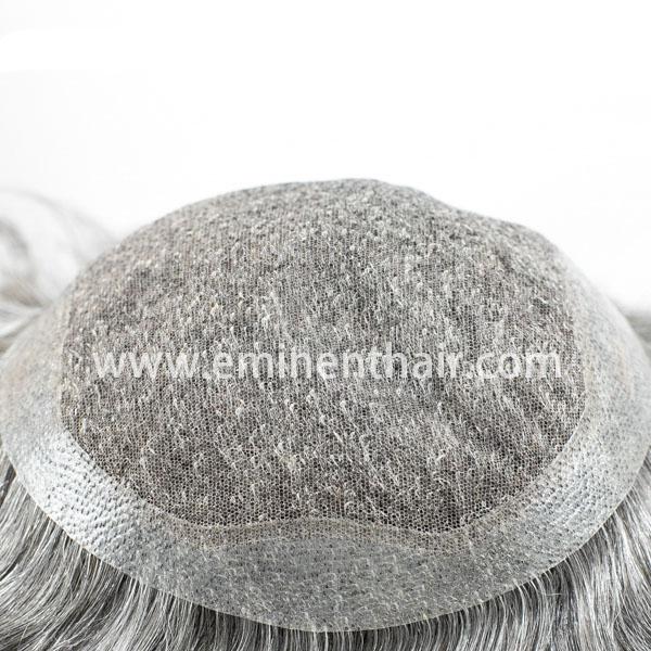 Human Hair Lace Men's Hair Prosthesis