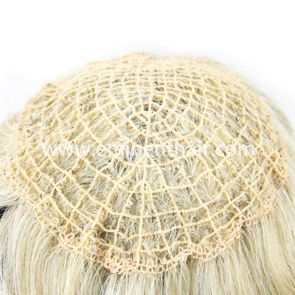 Remy Hair Blond Women's Integration Toupee