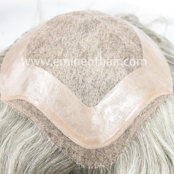 Remy Hair Lace Front Men's Toupee