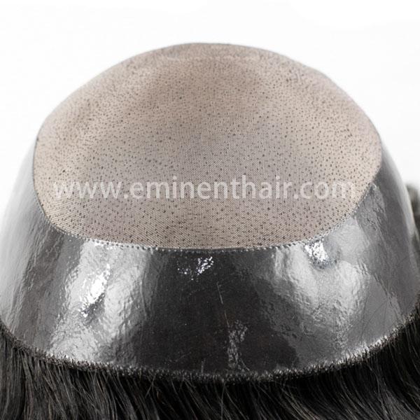 Custom Made Mono Toupee Men's Hair Prosthesis