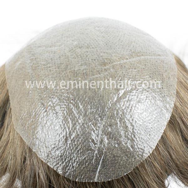Human Hair Custom Made Skin Men′s Toupee