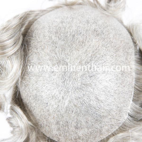 Custom Made Skin Human Hair Men's Toupee