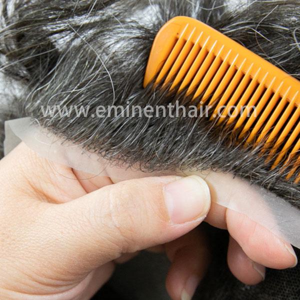 Natural Hairline Lace Men′s Hair Piece