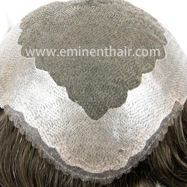 Human Hair Lace Top Men's Hair Piece