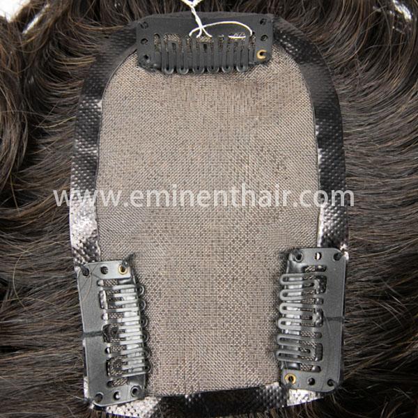 Human Hair Men's Mono Hair Piece