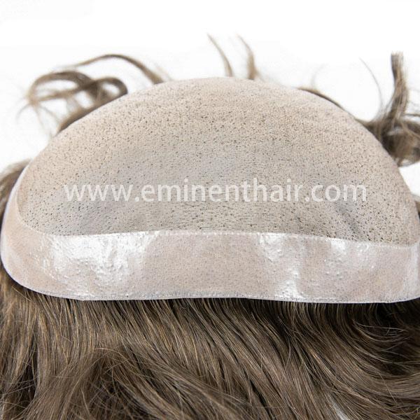 Human Hair Fine Mono Hair Replacement