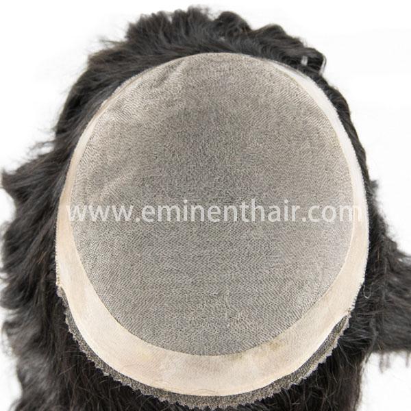 Human Hair Natural Hairline Women's Mono Wig