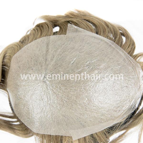 Human Hair Men′s Skin Hair Replacement