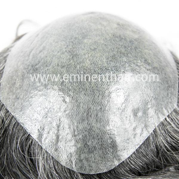 Natural Hairline Thin Skin Men′s Toupee