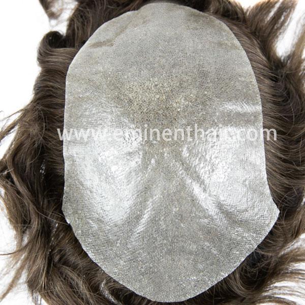 Custom Made Human Hair Skin Men′s Toupee
