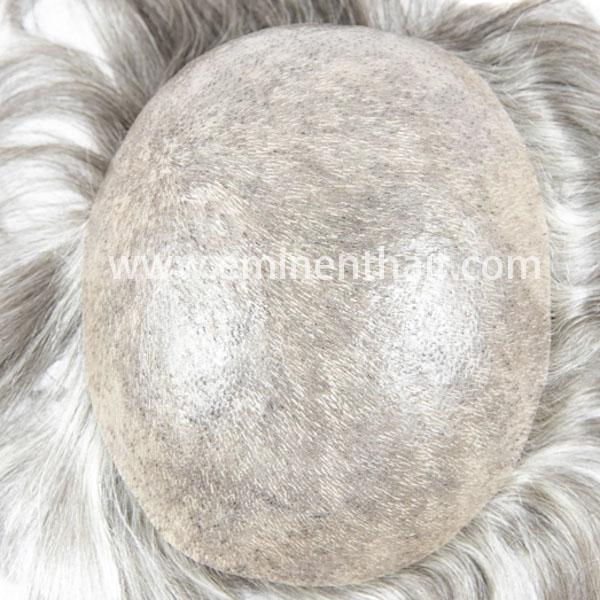 Custom Made Human Hair Men′s Full Skin Toupee