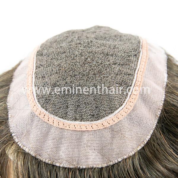 Natural Hairline Women′s Mono Hair Piece